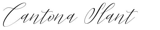 Cantona Slant