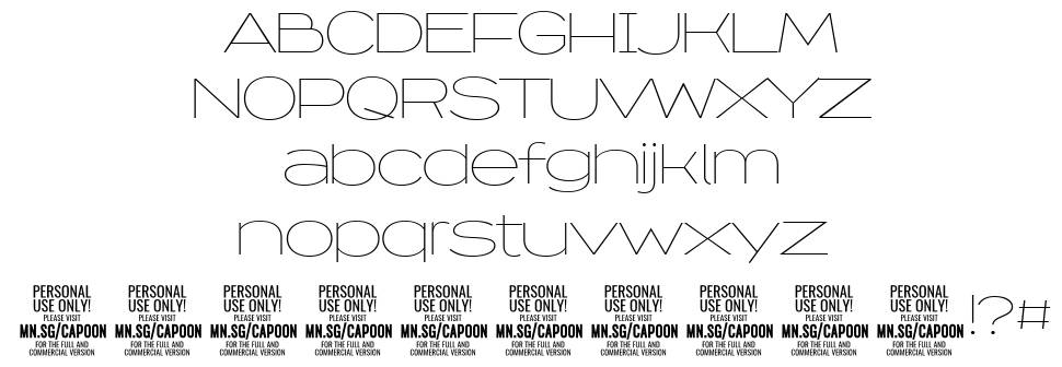 Capoon font