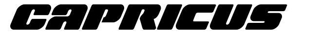 Capricus шрифт
