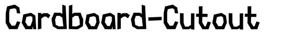 Cardboard-Cutout font