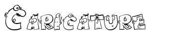 Caricature font