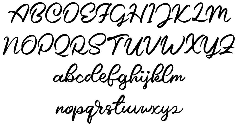 Caride Script czcionkę