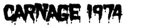 Carnage 1974 font