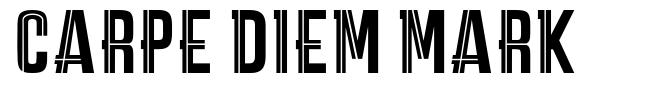 Carpe Diem Mark font
