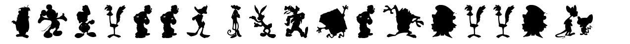 Cartoon Silhouettes font