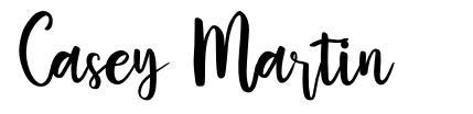 Casey Martin font