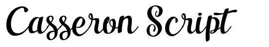 Casseron Script 字形