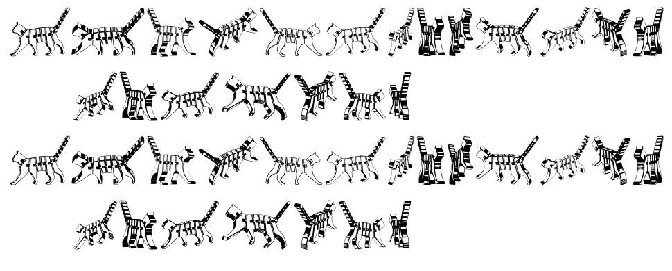 Cat 3D फॉन्ट