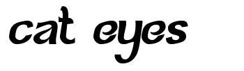 Cat Eyes font