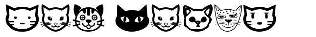 Cat Faces font