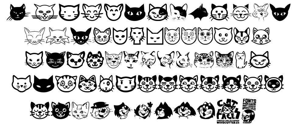 Cat Faces fonte
