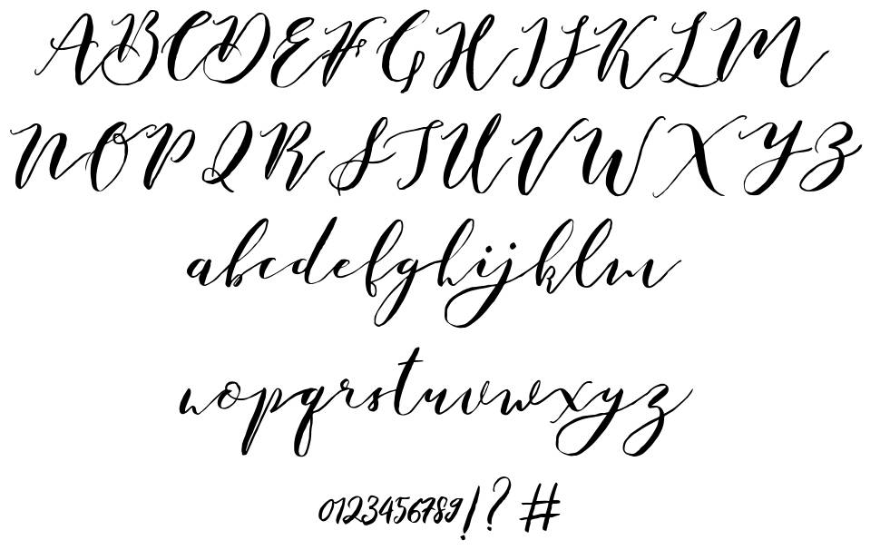 Catandra Brush font