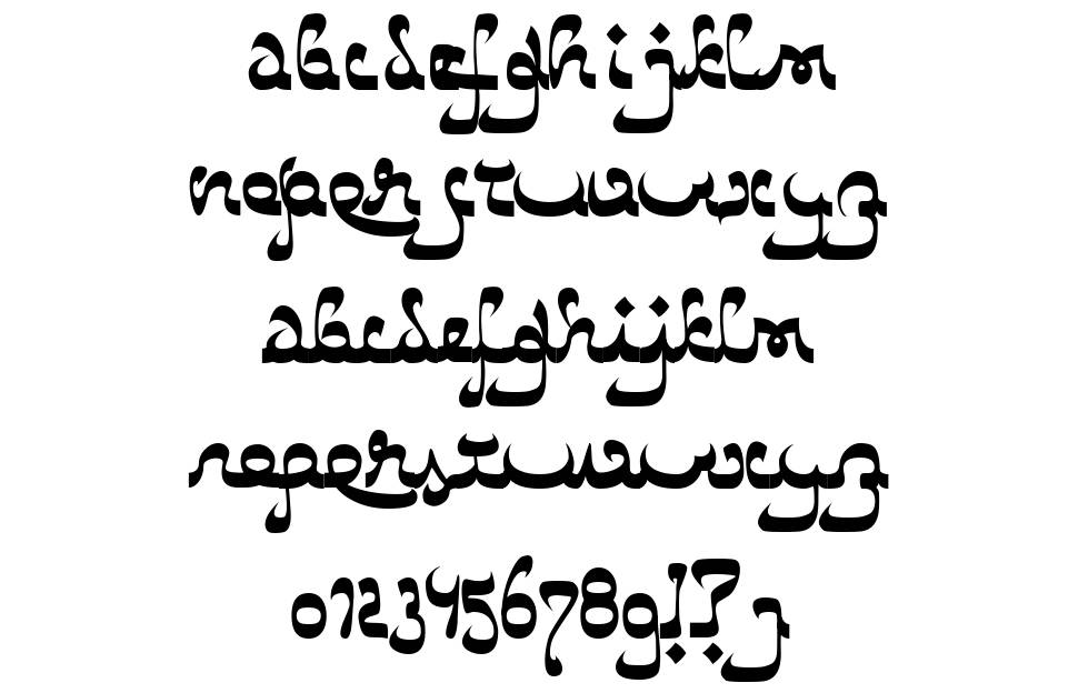 Catharsis Bedouin 字形