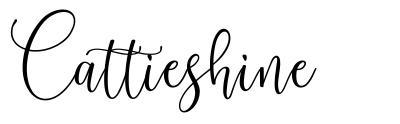 Cattieshine font