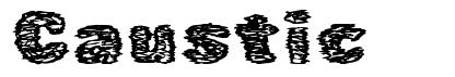 Caustic font