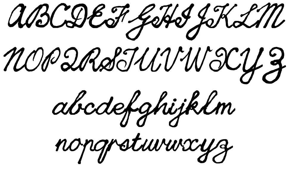 CedScript font