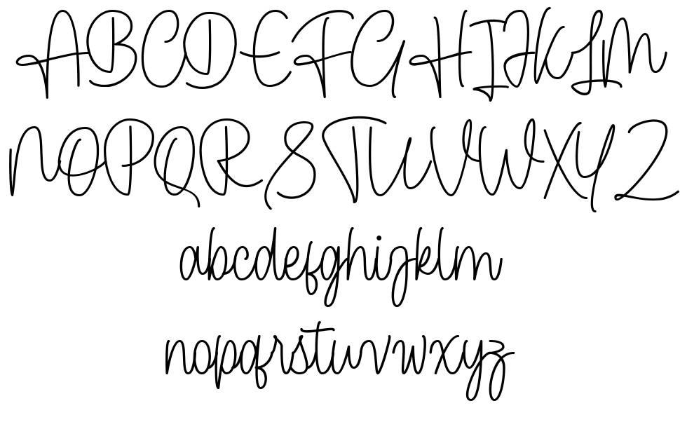 Cendolita Script font