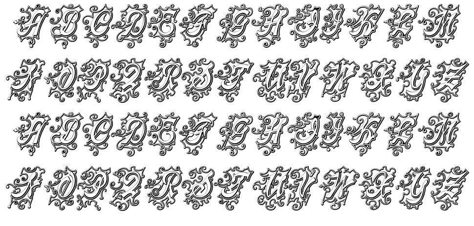 Centennial Script Fancy Three font