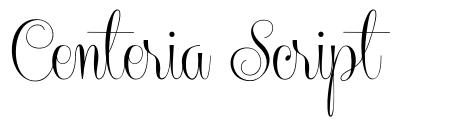 Centeria Script 字形