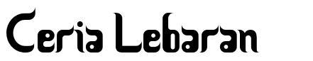 Ceria Lebaran font