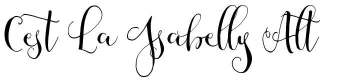 Cest La Isabelly Alt font