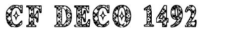 CF Deco 1492 шрифт