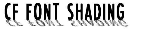 CF Font Shading  font