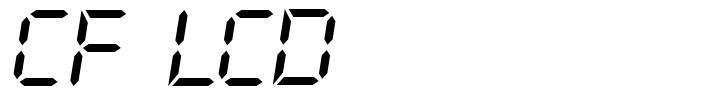 CF LCD 521 font