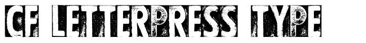 CF Letterpress Type police