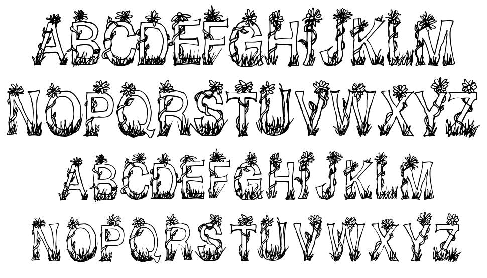 CF Plants and Flowers font