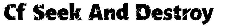 Cf Seek And Destroy font