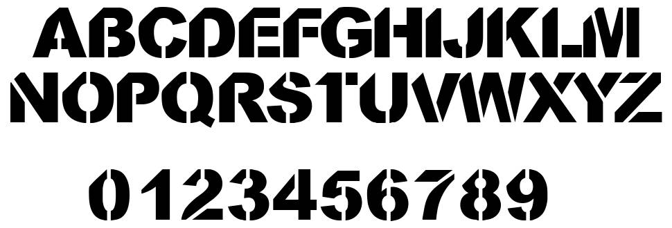 CF Stencil Orama Font By CloutierFontes