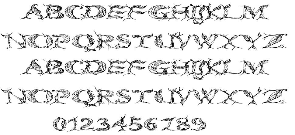 CF Tree Of Life font