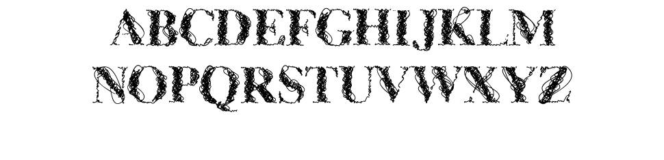 CF WireFrame font