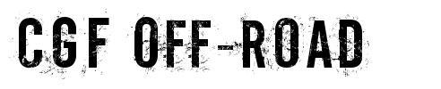 CGF Off-Road font