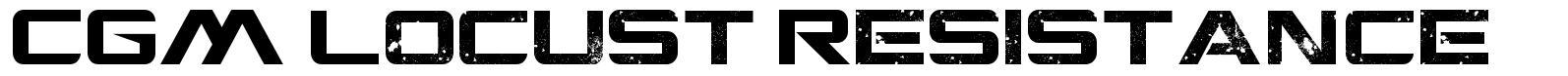 CGM Locust Resistance font