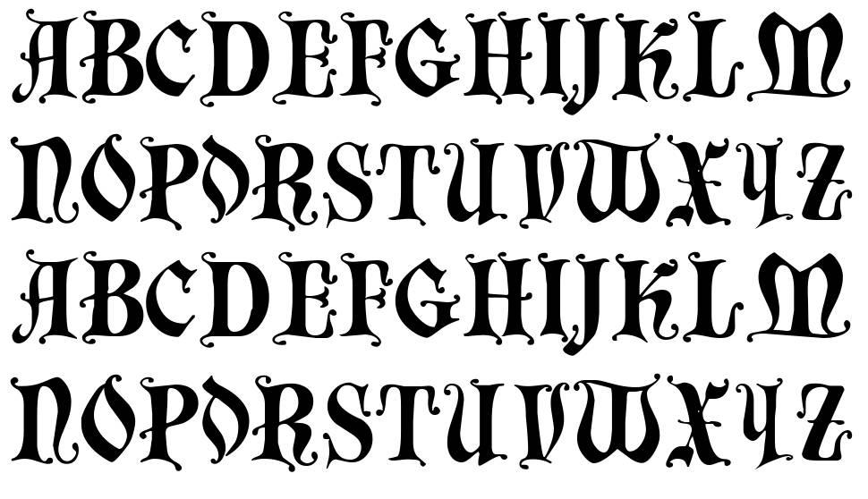 Chaillot font