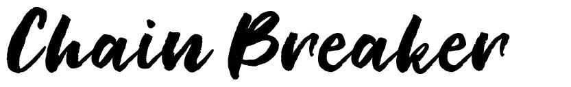 Chain Breaker font