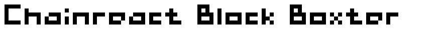 Chainreact Block Boxter font