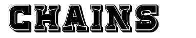 Chains font