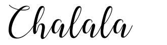 Chalala písmo