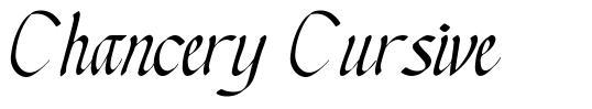 Chancery Cursive font