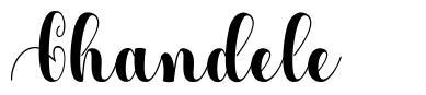 Chandele font