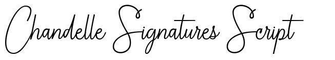 Chandelle Signatures Script