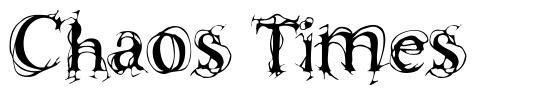 Chaos Times font