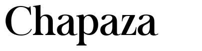 Chapaza font