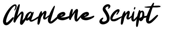 Charlene Script font