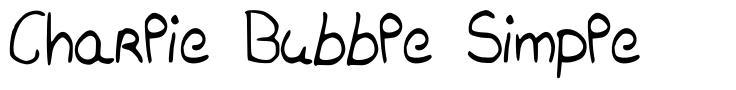 Charlie Bubble Simple