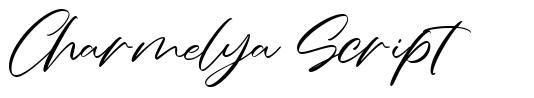 Charmelya Script font