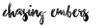 Chasing Embers 字形